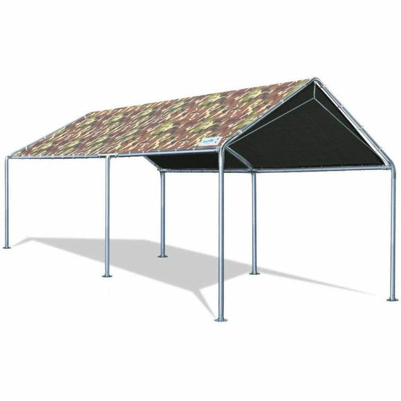 Quictent 10'x20'Carport Upgraded Heavy Duty Car Canopy Party Tent Shelter Tent -Camo