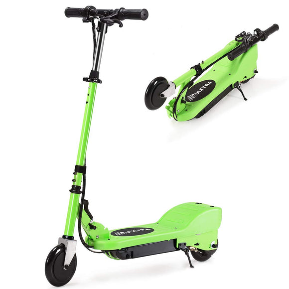 MAXTRA UL Certified Upgraded E100 Adjustable Handlebar Folding Electric Scooter-Green