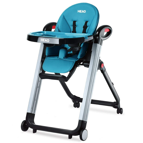 HEAO Adjustable Baby Folding High Chair-Blue