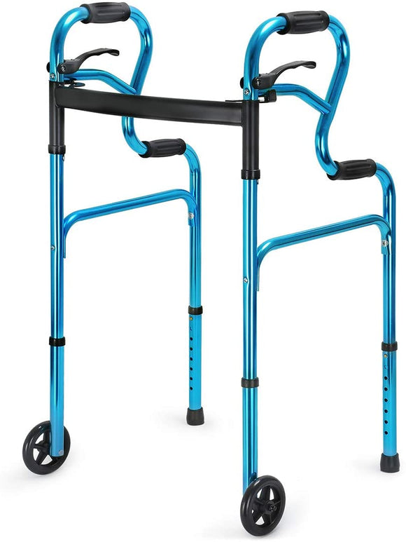 Health Line 3-in-1 Trigger Release Folding Walker With 5