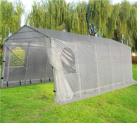 Snow Shed suitable for Bad Weather, Quictent 20'X11' Heavy Duty Carport Garage Car Shelter with Observation Window