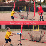 Zupapa Upgraded 7' x 7' Baseball Training Equipment & Aids-Red