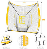 quick setup, sturdy seams, knotless net