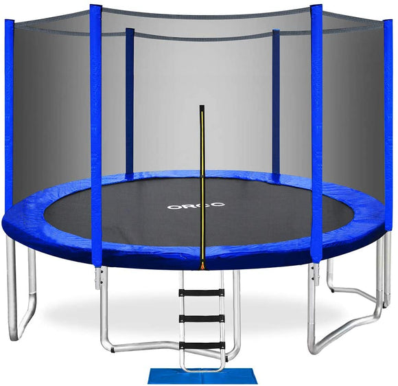 ORCC Upgraded 12' Trampoline with Safety Enclosure Out-Net
