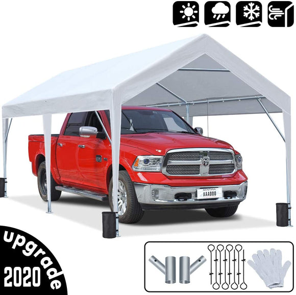 King Bird Upgraded 10' x 20'  Carport (No Sides)