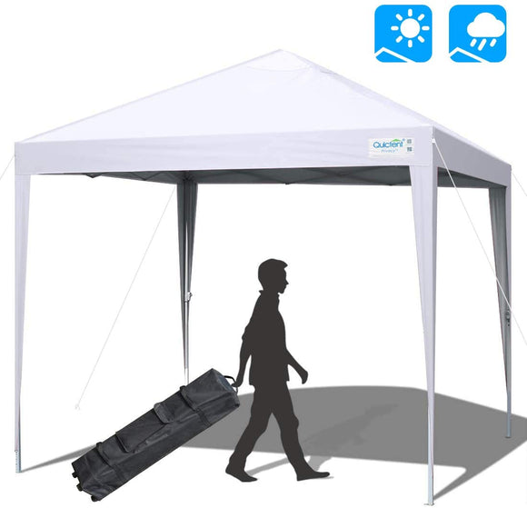 Quictent No-Side Upgraded 10' x 10' Pop Up Canopy -White