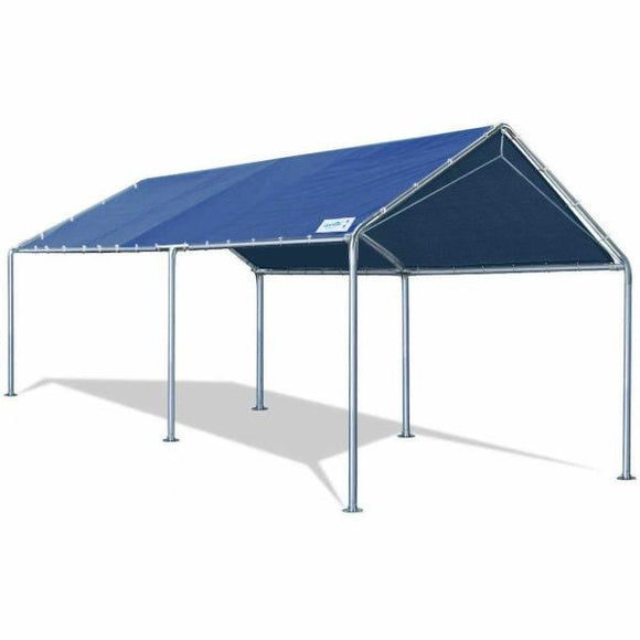 Quictent 10'x20'Carport Upgraded Heavy Duty Car Canopy Party Tent Shelter Tent -Blue
