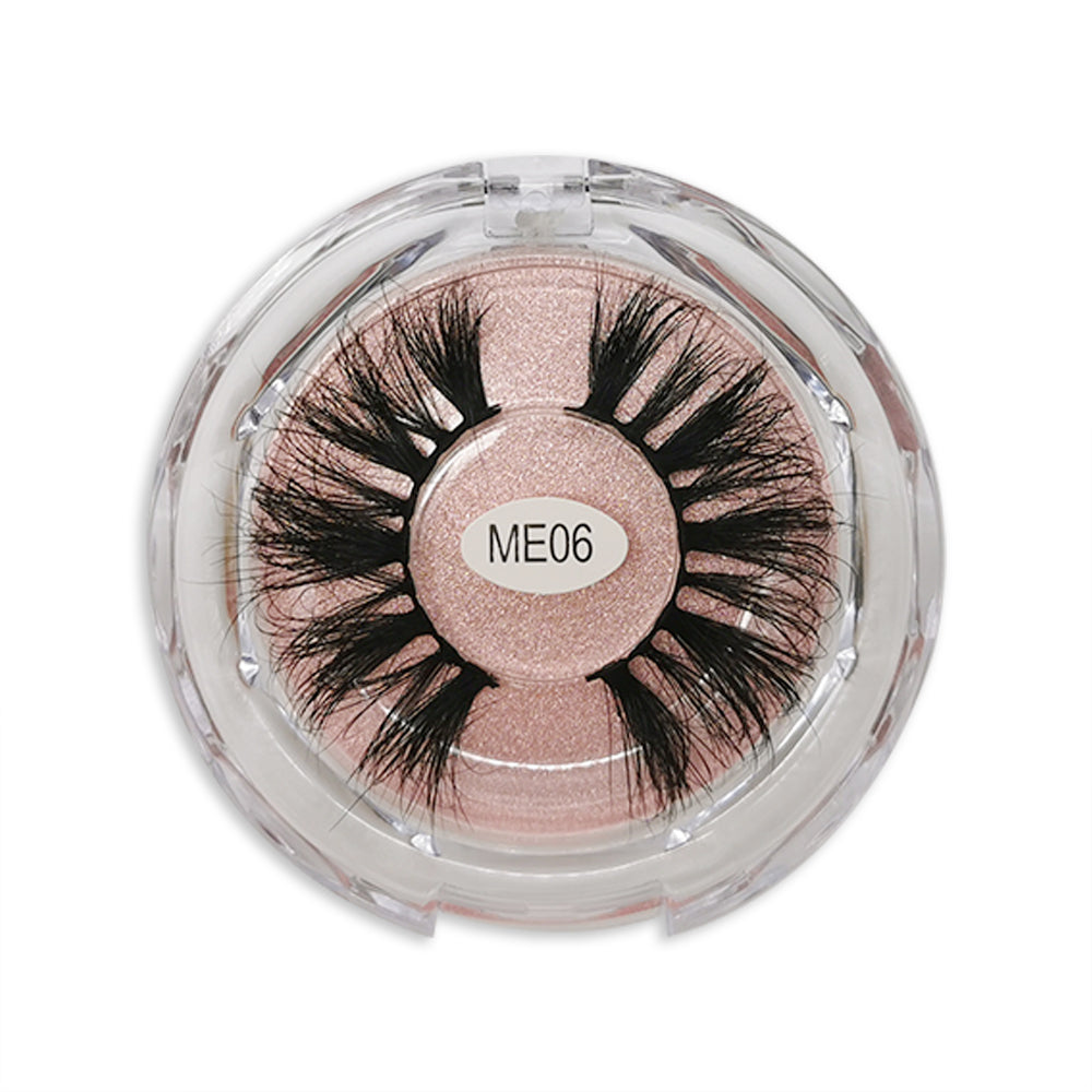 25MM Real Mink False Eyelashes ME06 (Pink Box)