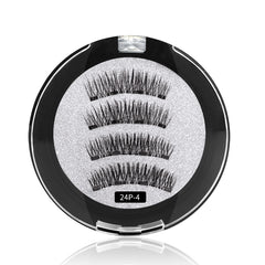 4 Magnets 3D Magnetic False Eyelashes With Quantum Lash Applicator Tool 24P-4