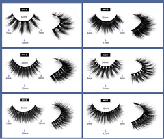 3 Pairs False Eyelashes with Blue Box W21