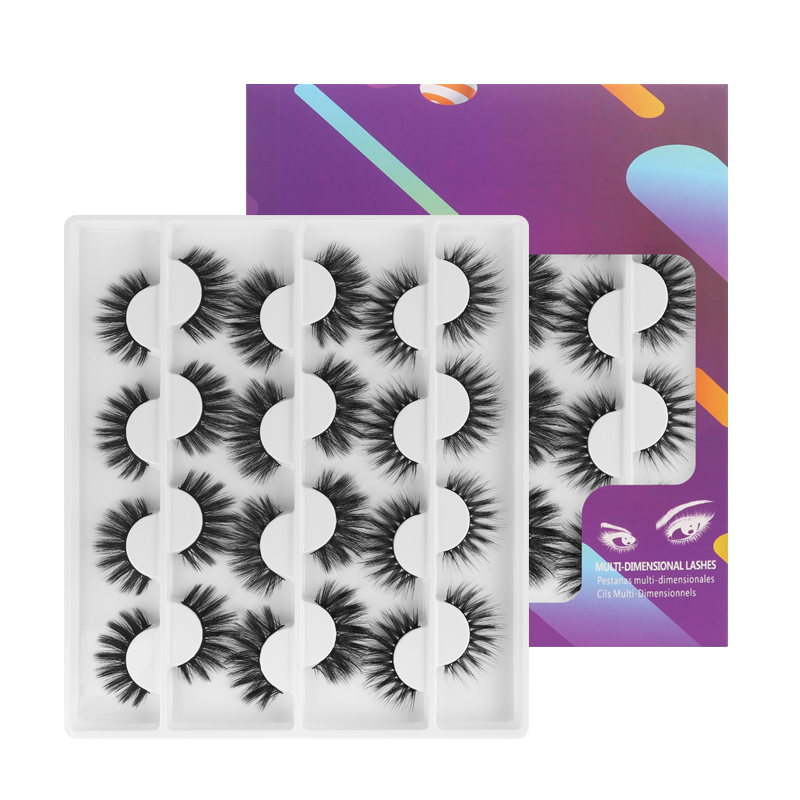 12 Pairs Faux Mink False Eyelashes 001