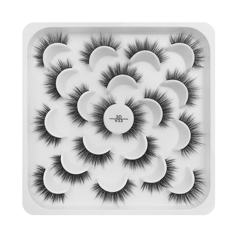 10 Pairs False Eyelashes 3DV33