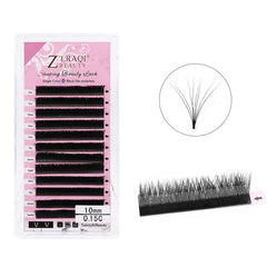 V Shape Eyelash Extensions C Curl 0.15mm Single Length 8-12mm