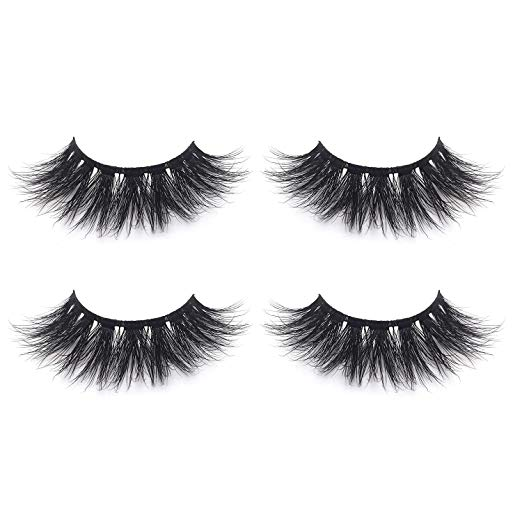 Fluffy 3D Mink Lashes False Eyelashes Pack of 2