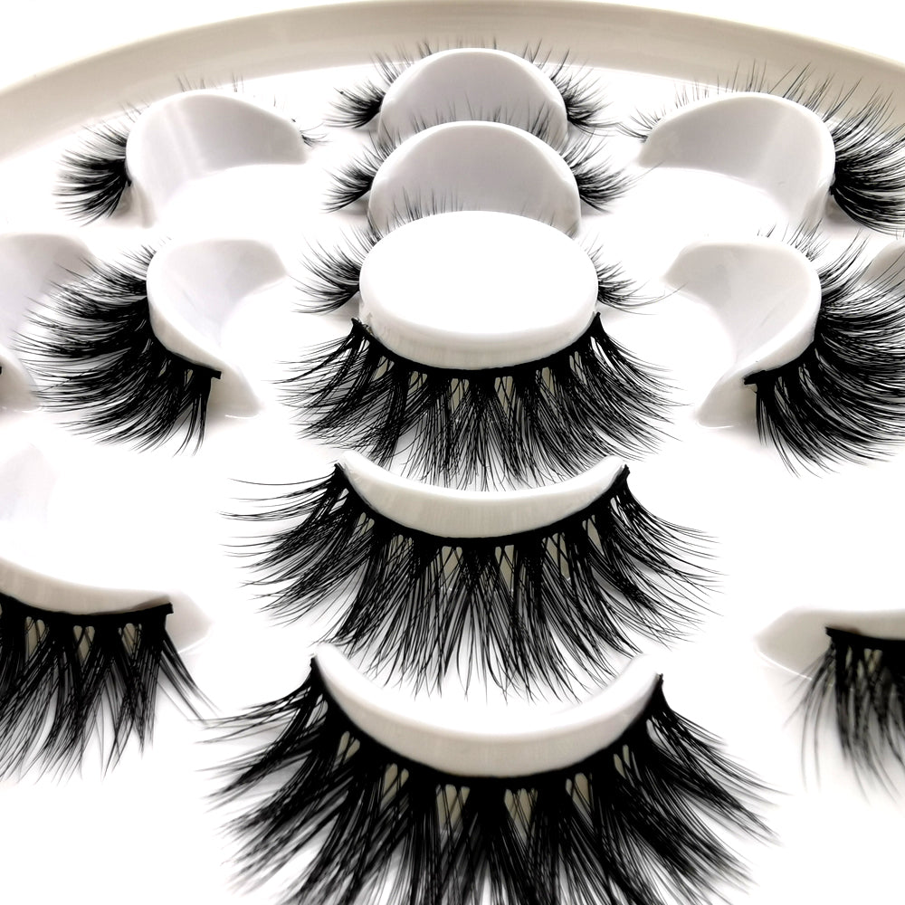 Faux Mink Volumn False Eyelashes 7 Pairs SD-16