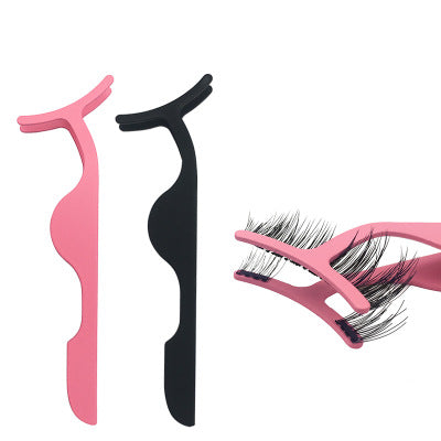 Magnetic False Eyelash Applicator Tweezers Stainless Steel