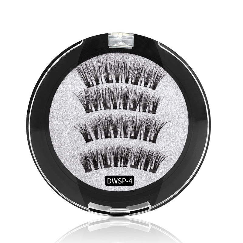 4 Magnets 3D Magnetic False Eyelashes With Quantum Lash Applicator Tool DWSP-4