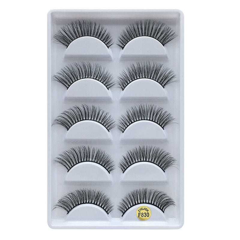 3D Mink Eyelashes Natural 5 Pairs F830
