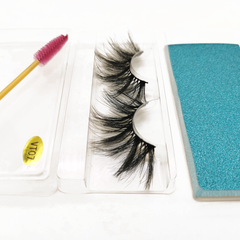 25MM Faux Mink Lashes Colorful Box With Lash Brush VT07