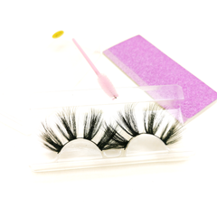 25MM Faux Mink Lashes Colorful Box With Lash Brush VT13