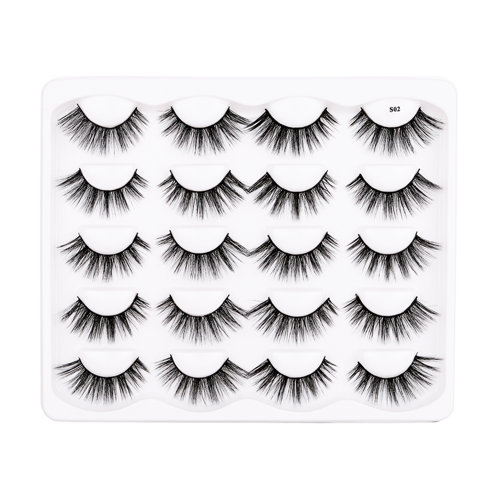 10 Pairs Faux Mink False Eyelashes S02