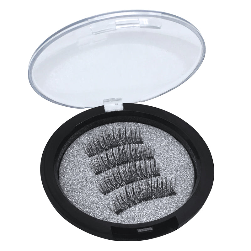 3 Magnets 3D Magnetic False Eyelashes With Quantum Lash Applicator Tool 24P-3