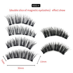 4 Magnets 3D Magnetic False Eyelashes With Quantum Lash Applicator Tool KS02-4