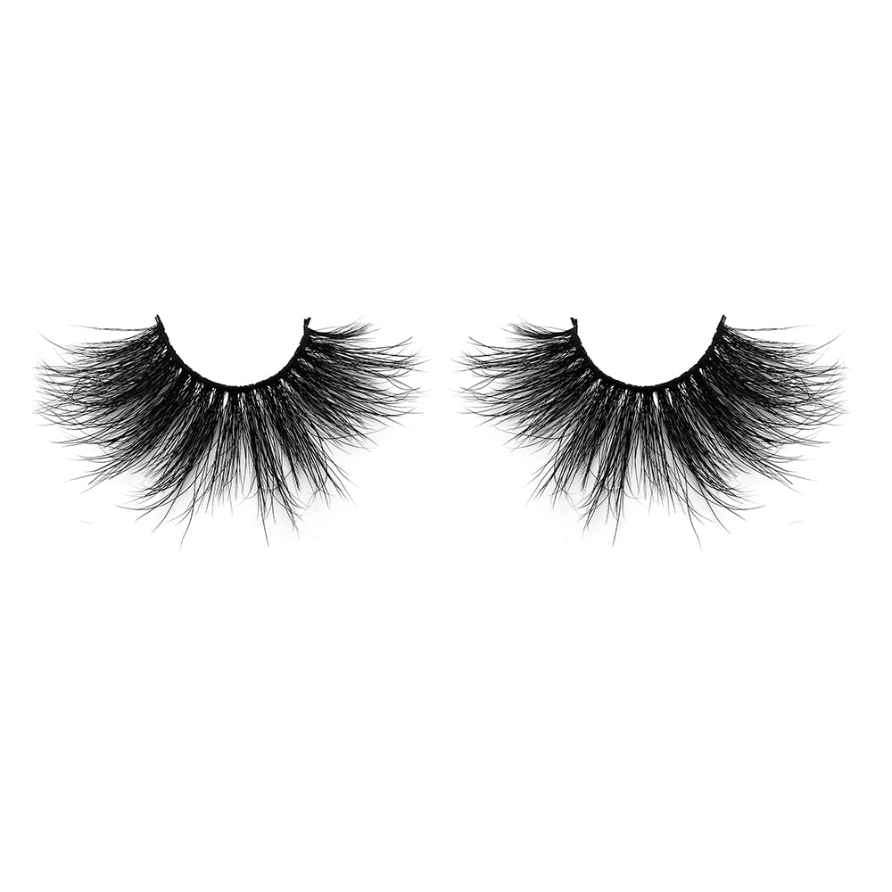 25MM Real Mink False Eyelashes ME01 (Pink Box)