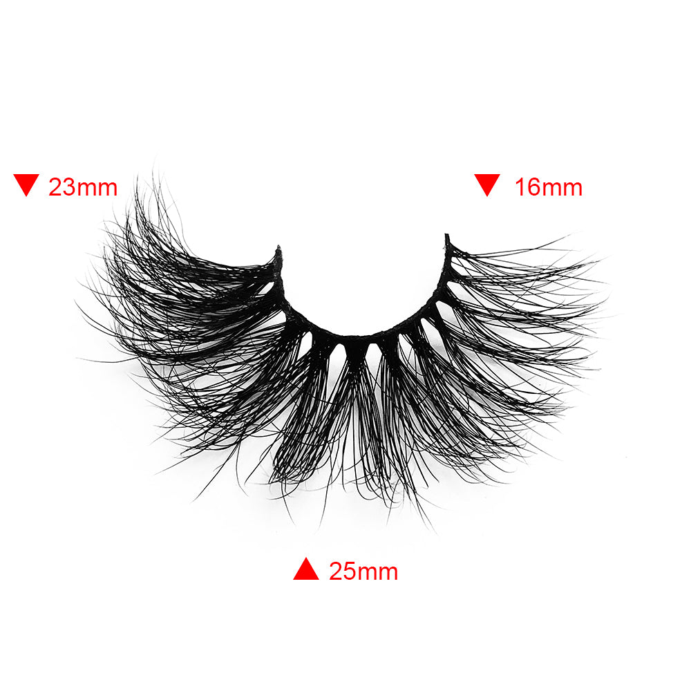 25MM Real Mink False Eyelashes ME04 (Pink Box)