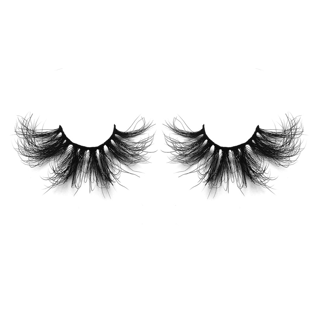 25MM Real Mink False Eyelashes ME07 (Pink Box)