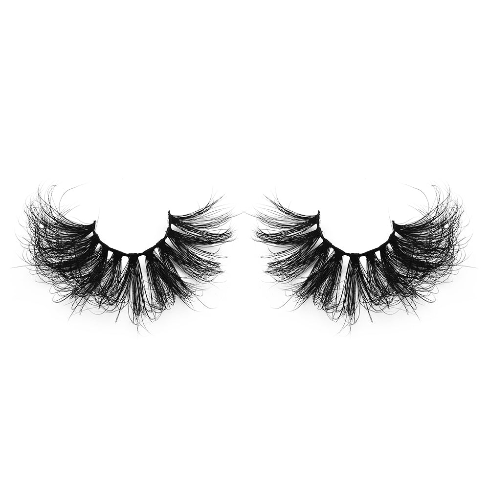 25MM Real Mink False Eyelashes ME11 (Pink Box)
