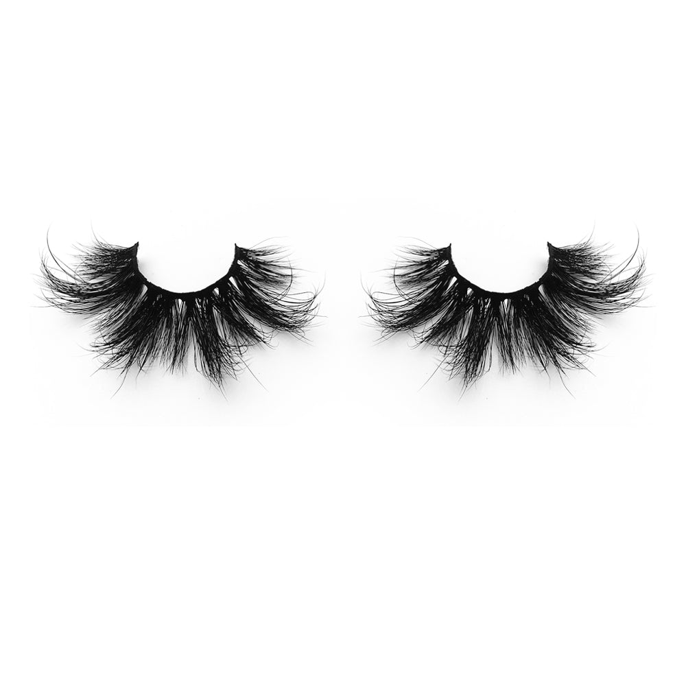 25MM Real Mink False Eyelashes ME18 (Pink Box)