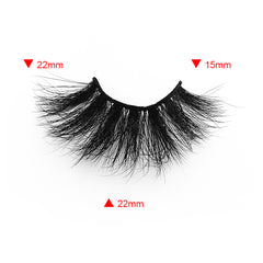 25MM Real Mink False Eyelashes ME19 (Pink Box)