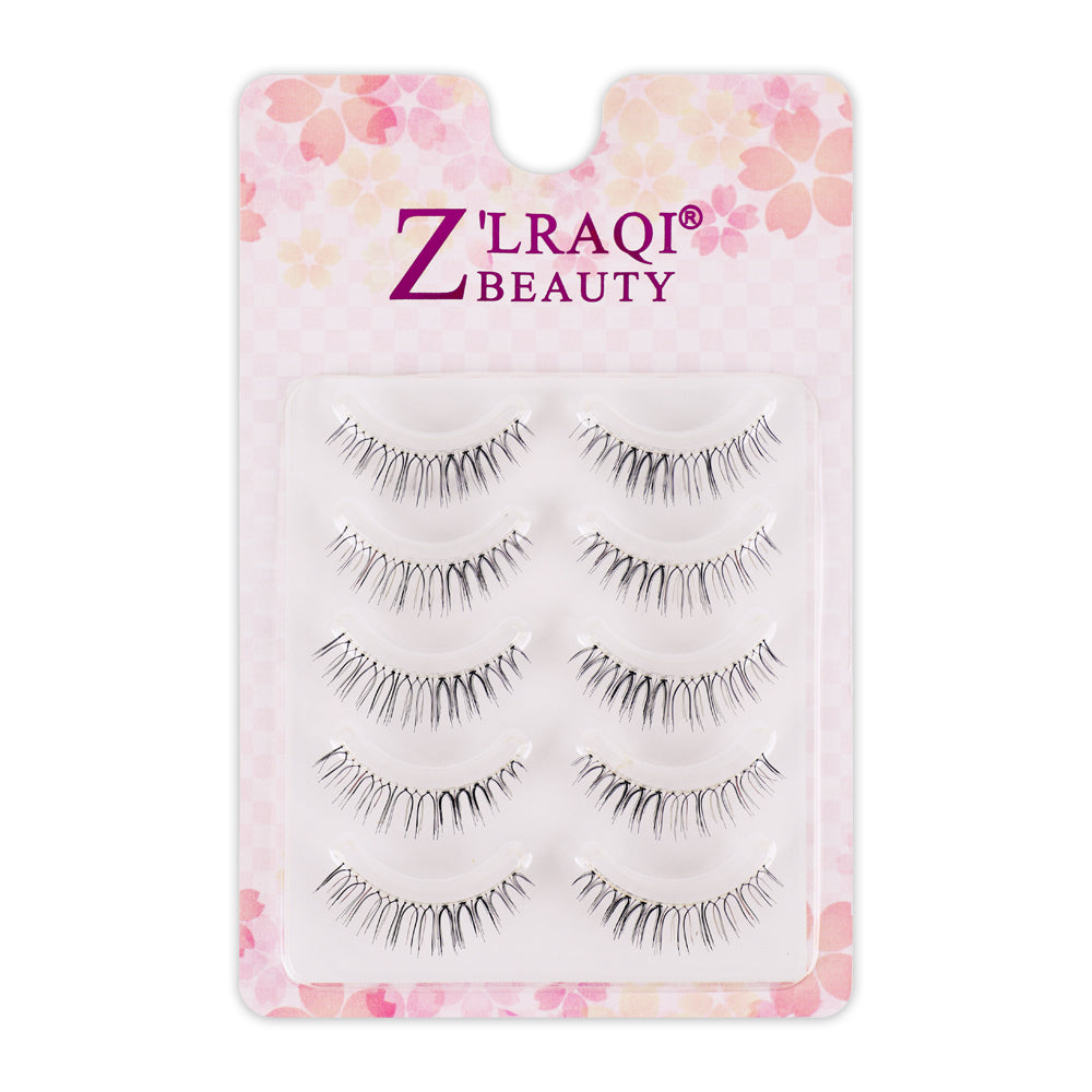 Multipack Naturals False Lashes with Invisiband, 5 Pairs N-03