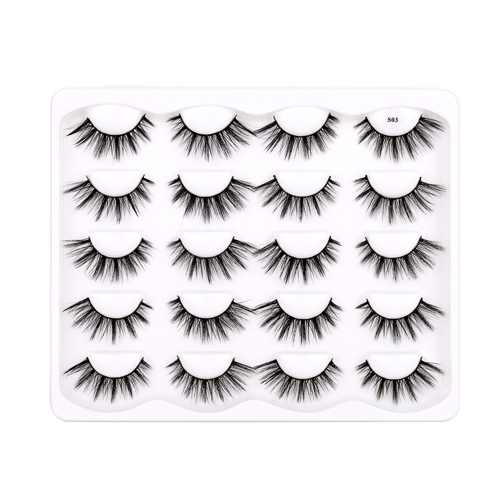 10 Pairs Faux Mink False Eyelashes S03