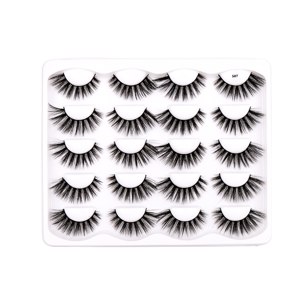 10 Pairs Faux Mink False Eyelashes S07
