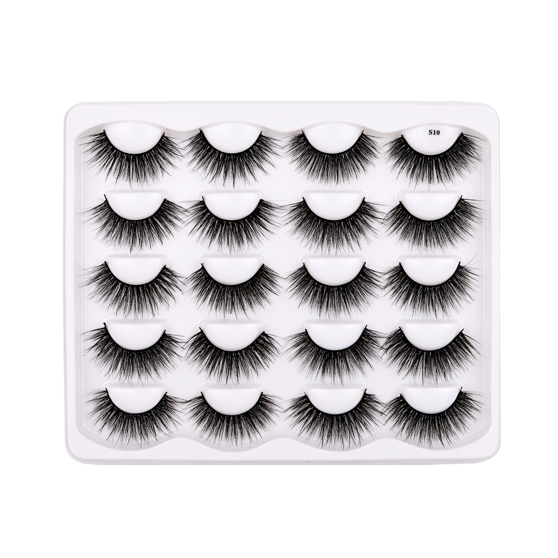 10 Pairs Faux Mink False Eyelashes S10