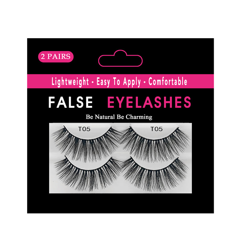 Faux Mink False Lashes Pack of 2 Pairs T05
