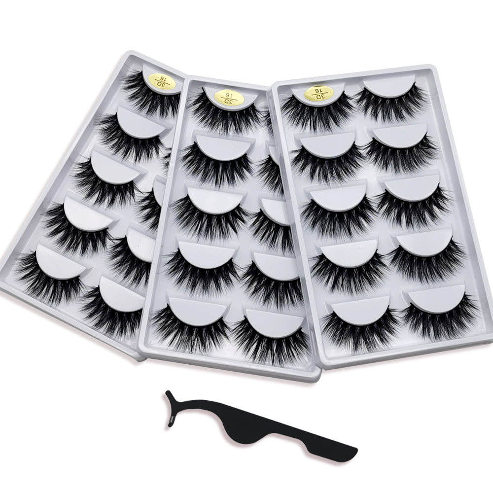Huapan 3D Faux Mink Lashes: 15 Pairs of Fake Eyelashes