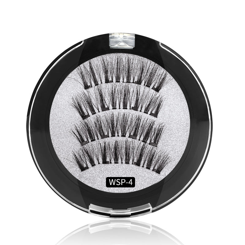 4 Magnets 3D Magnetic False Eyelashes With Quantum Lash Applicator Tool WSP-4