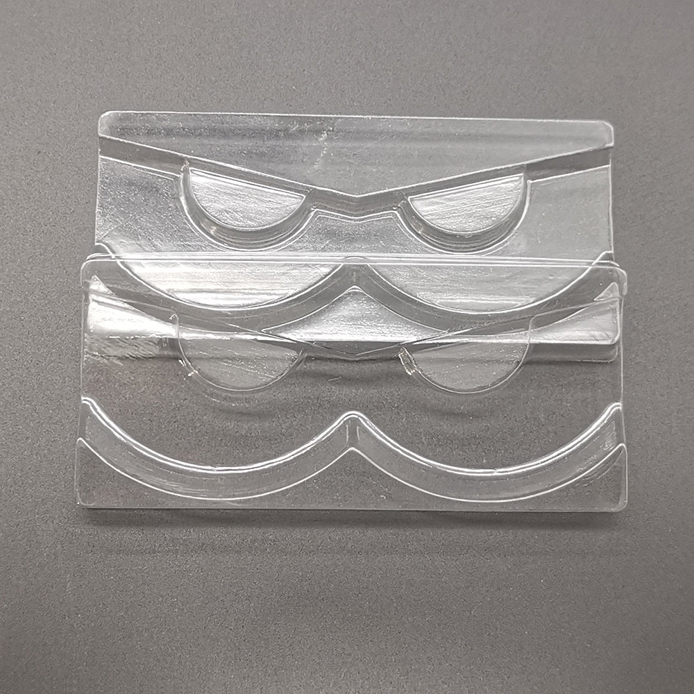 10PCS Plastic Clear Lashes Trays Eyelash Holders For 10 -25MM Lashes(NO LASHES)