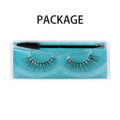 Natural 3D Faux Mink Lashes Colorful Package with Lash Brush V01