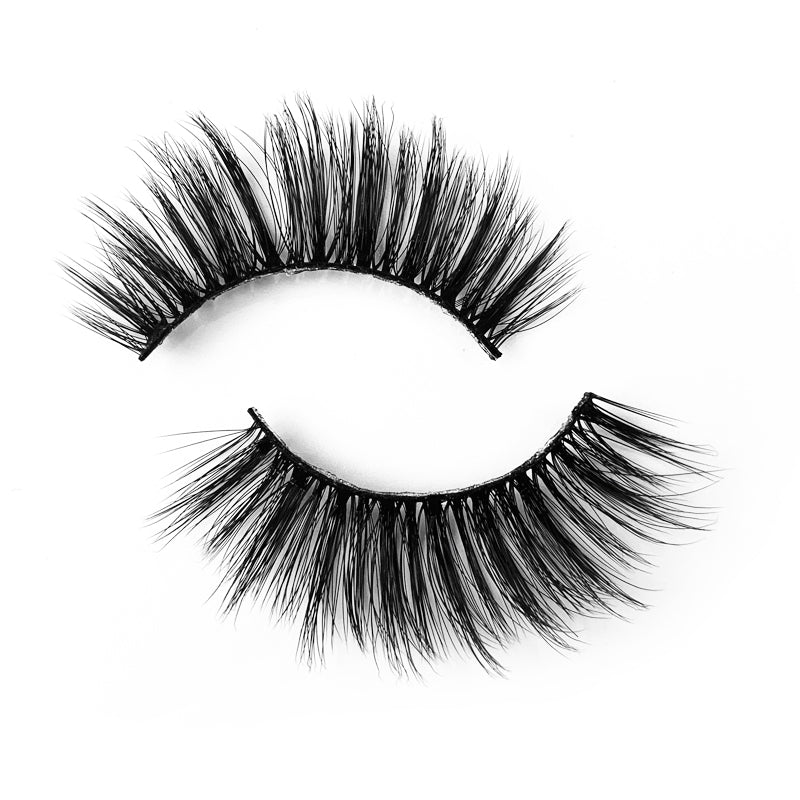 Natural 3D Faux Mink Lashes Colorful Package with Lash Brush V02