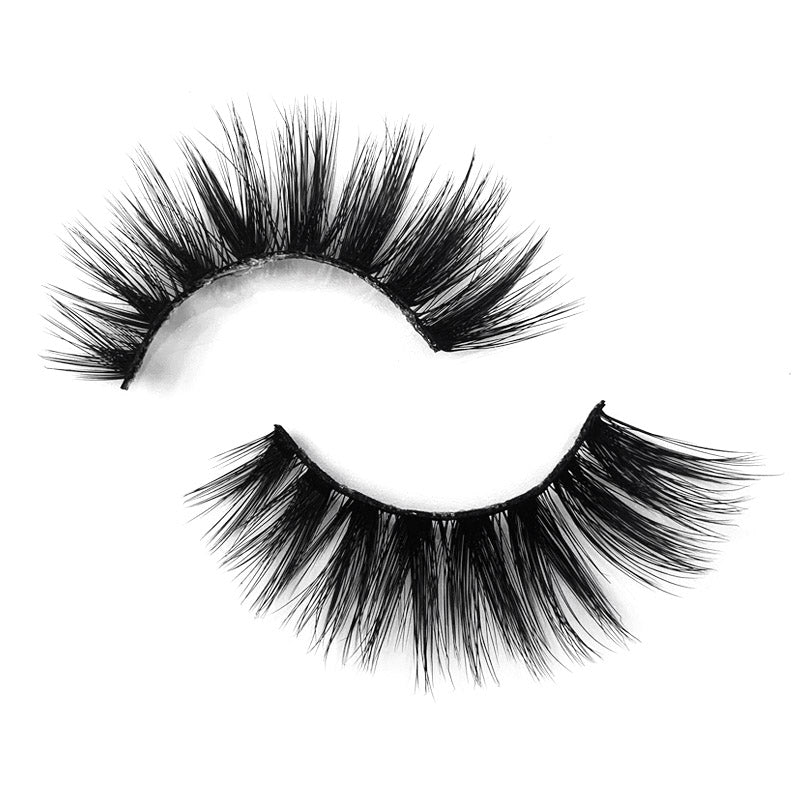 Natural 3D Faux Mink Lashes Colorful Package with Lash Brush V05