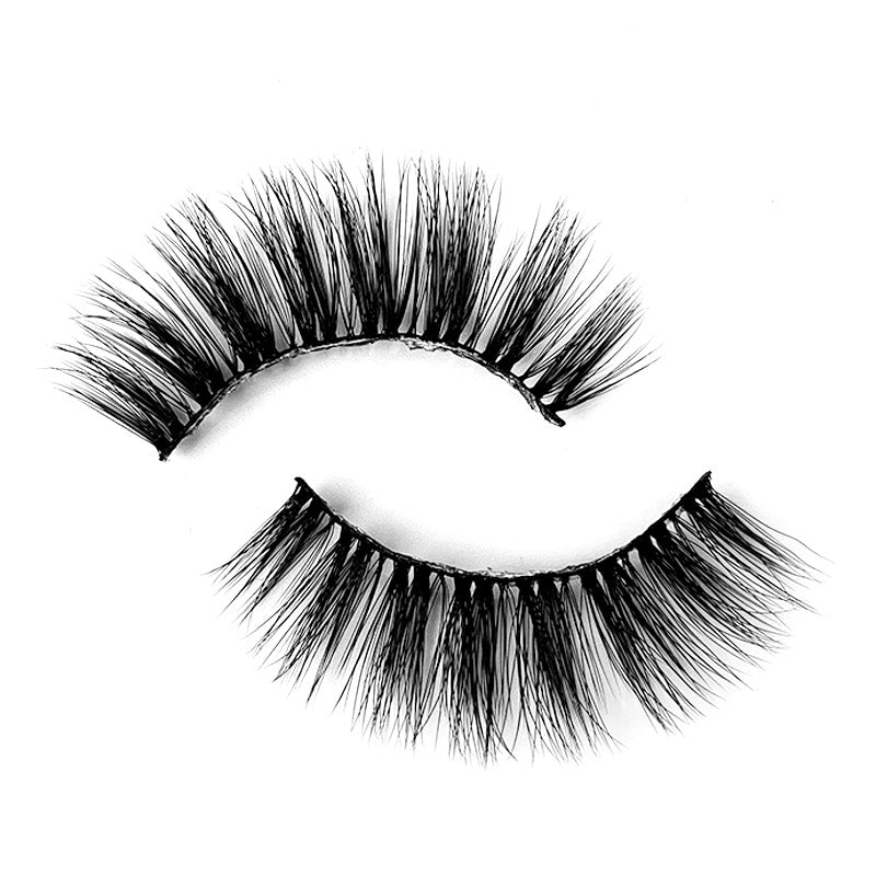 Natural 3D Faux Mink Lashes Colorful Package with Lash Brush V11