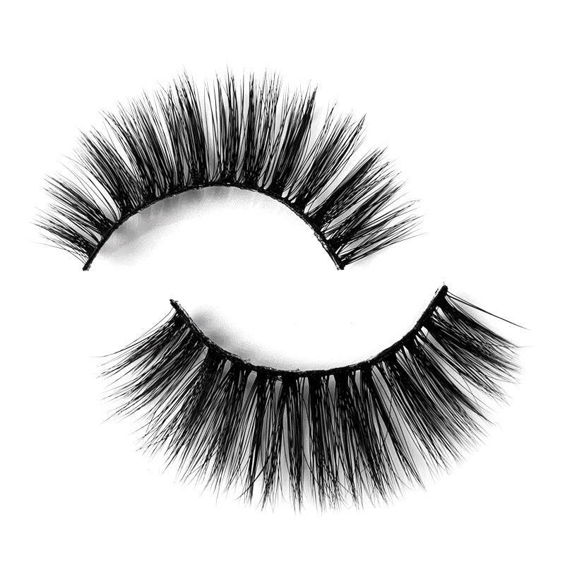 Natural 3D Faux Mink Lashes Colorful Package with Lash Brush V13