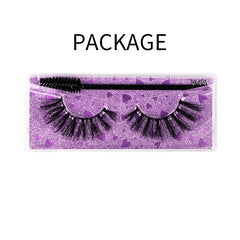 Natural 3D Faux Mink Lashes Colorful Package with Lash Brush V14