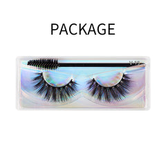 Natural 3D Faux Mink Lashes Colorful Package with Lash Brush V15