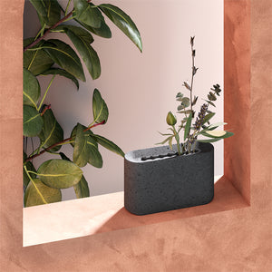 Slim Vase Mini - Dark grey