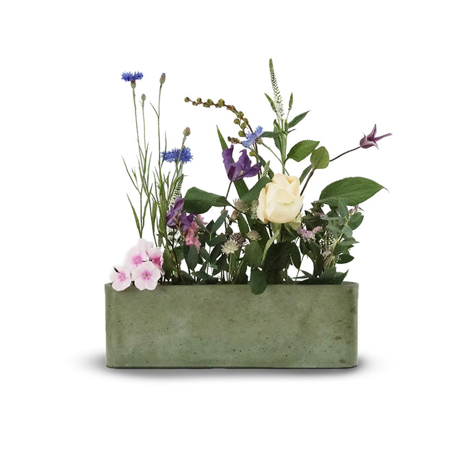 Slim Vase- Dusty green
